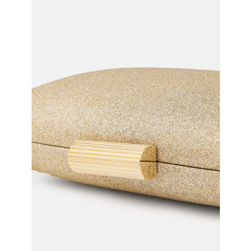 Anouk Gold-Toned Solid Box Clutch