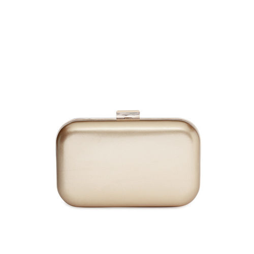 Lisa Haydon for Lino Perros Gold-Toned Solid Clutch with Sling Strap