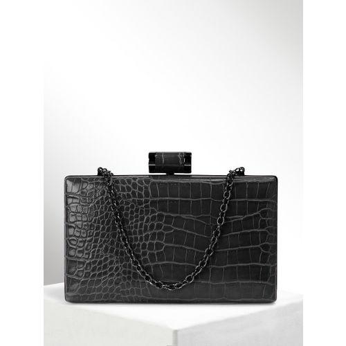 CORSICA Black Textured Clutch