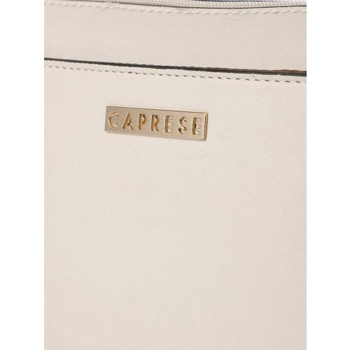Caprese Cream-Coloured Solid Sling Bag