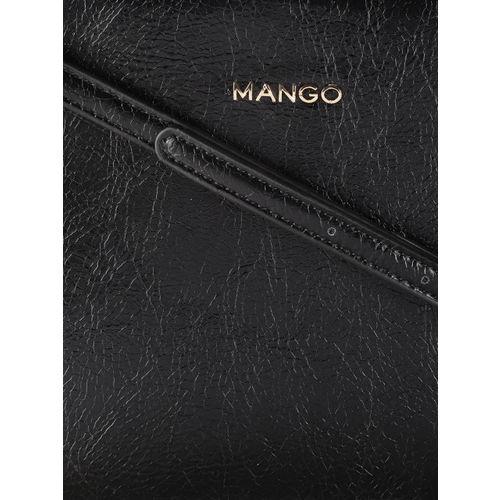 MANGO Black Solid Sling Bag