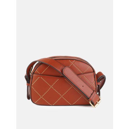 DressBerry Rust Red Embellished Sling Bag