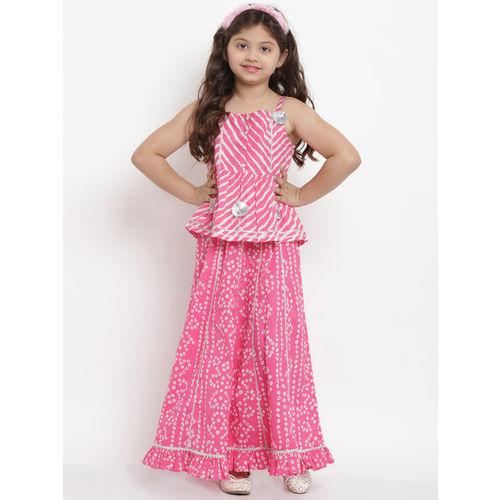 Bitiya by Bhama Pink & White Ready to Wear Lehenga with Blouse