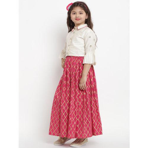 Bitiya by Bhama Off-White & Pink Ready to Wear Lehenga with Blouse