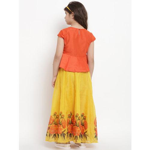Bitiya by Bhama Orange & Yellow Ready to Wear Lehenga with Blouse