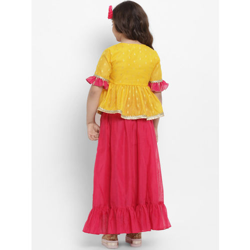 Bitiya by Bhama Yellow & Pink Ready to Wear Lehenga with Blouse