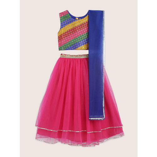 YK Multicoloured Ready to Wear Lehenga & Blouse with Dupatta