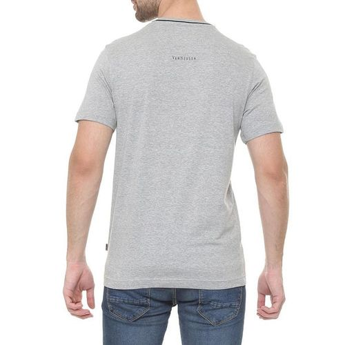 VAN HEUSEN Textured Cotton Crew-Neck T-shirt