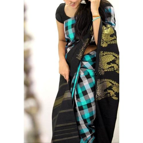 SVB Saree Green Colour Bhagalpuri silk Printed saree