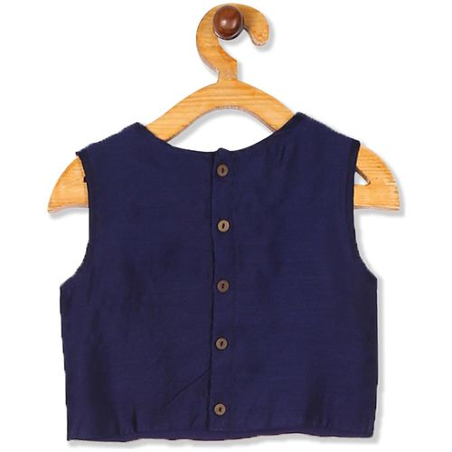 Karigari Girl's Polyester Self design Sleeveless Kurti & salwar set - Multi by Arvind Lifestyle Brands