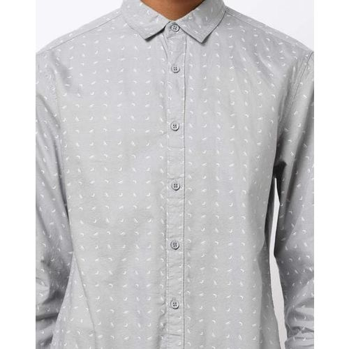 AJIO Printed Slim Fit Shirt