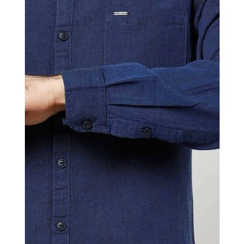 Pepe Jeans Shirt with Band Collar & Patch Pocket