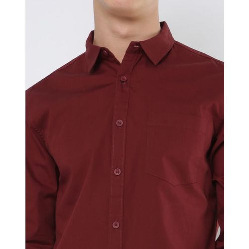 AJIO Slim Fit Shirt with Patch Pocket