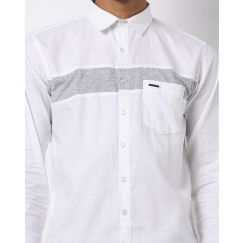 BREAKPOINT Cut & Sew Cargo Slim Fit Shirt with Patch Pocket