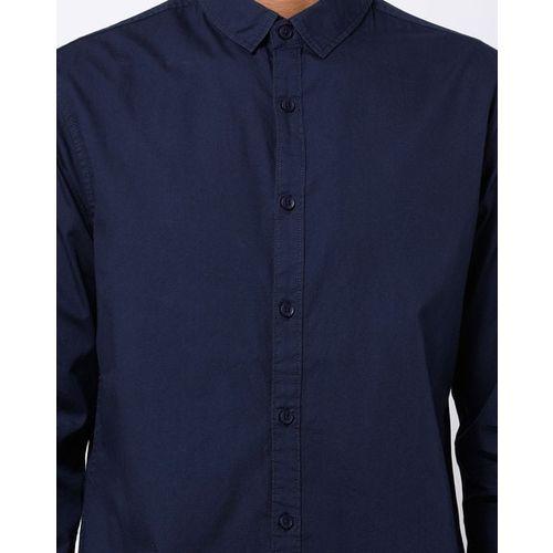 AJIO Slim Fit Shirt with Buttoned Cuffs