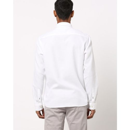 NETPLAY Textured Shirt with Patch Pocket