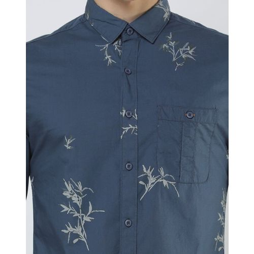 The Indian Garage Co Floral Print Slim Fit Shirt with Patch Pocket