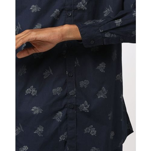 AJIO Slim Fit Floral Print Shirt