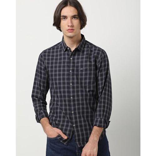 The Indian Garage Co Checked Slim Fit Shirt with Patch Pocket