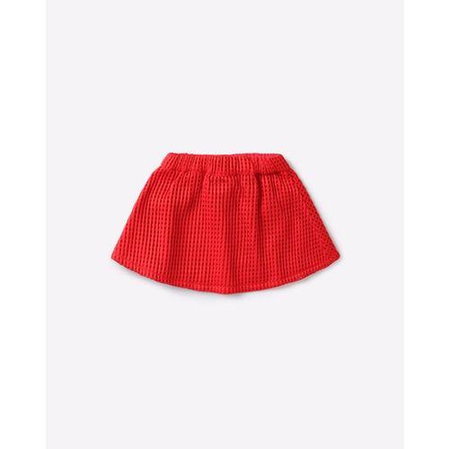 NAUTI NATI Round Neck T-shirt & Skirt Set with Denim Shrug