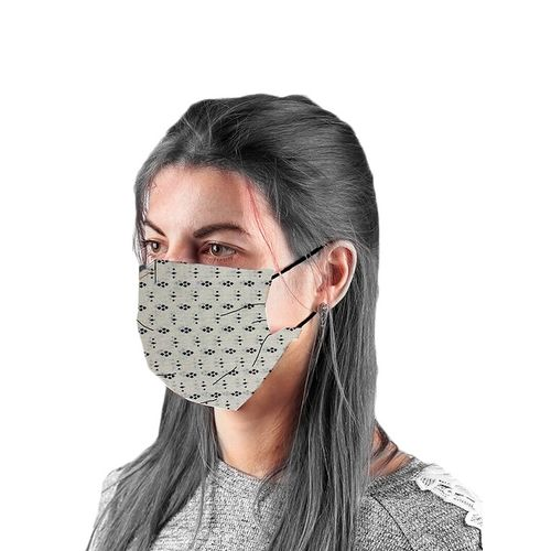 the vanca offwhite unisex printed mask (pack of 10)