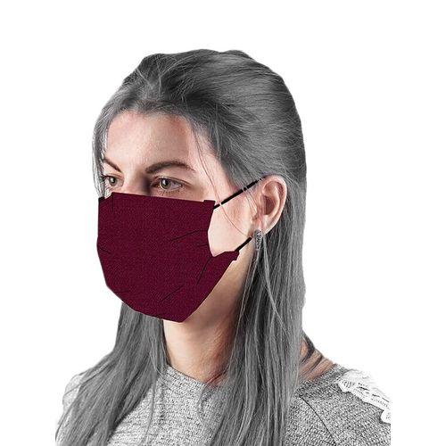 the vanca maroon unisex solid mask ( pack of 5)