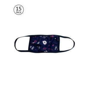 Clovia Adults Navy Blue Pack of 15 Reusable 3-Layer Cloth Masks