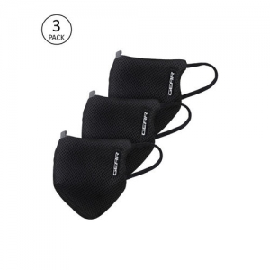Gear Adults Black OxyPro Pack of 3 Reusable 3-Layer Anti-Pollution Outdoor Masks