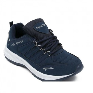 Clymb Blue Synthetic Lace Up Running Shoes