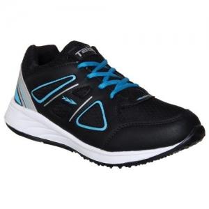 Columbus Men's Black,Aqua Running Shoe