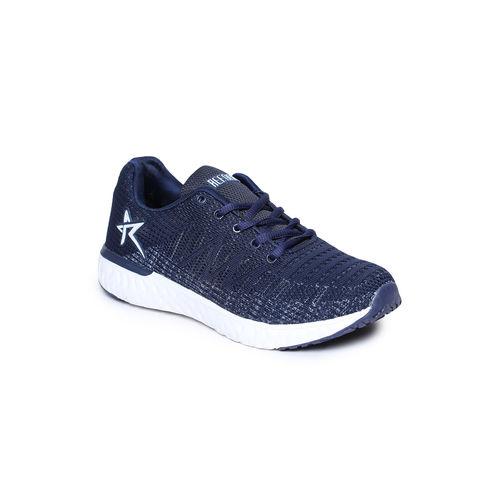 REFOAM Men Navy Mesh Running Sports Shoes