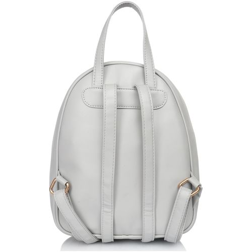 Lychee bags Grey PU Backpack by lychee