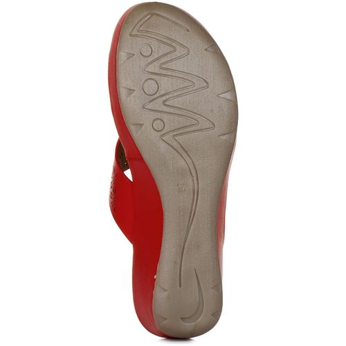 Liberty Healers Women Red Slippers by Liberty Shoes