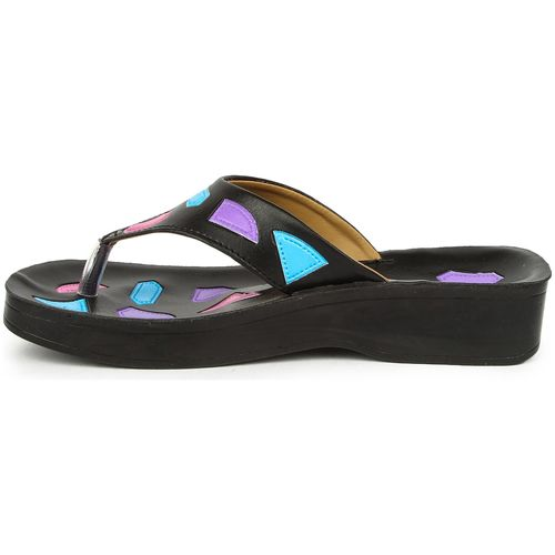 Liberty A-HA Women Black Slippers by Liberty Shoes