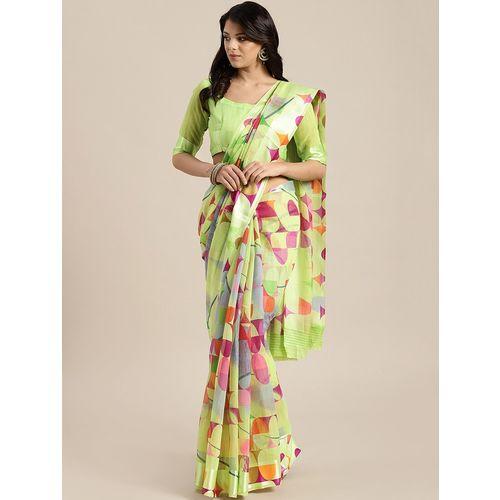 Aloki geometric printed saree with blouse