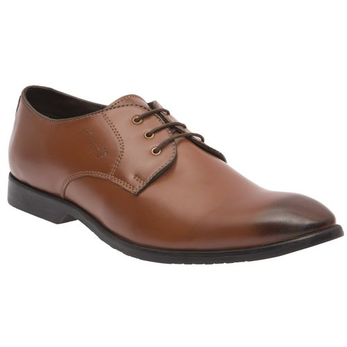 CIZMAR Derby Shoes Black Tipped In Cherry Brown