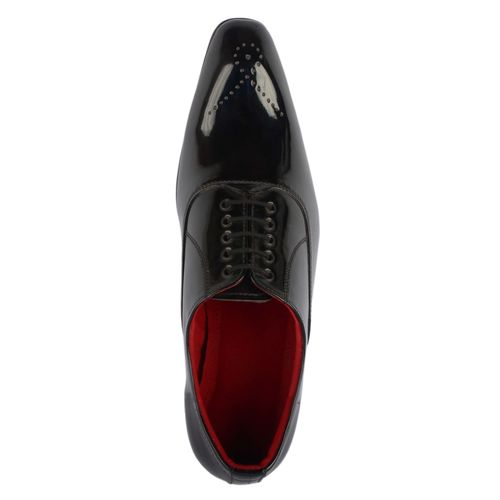 Goosebird Stylish Patent Leather Office Lace-Up Shoe for Men