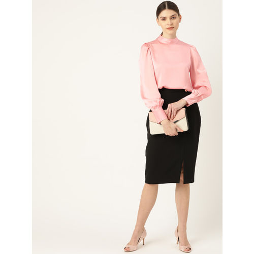 20Dresses Women Pink Solid Wrap Top