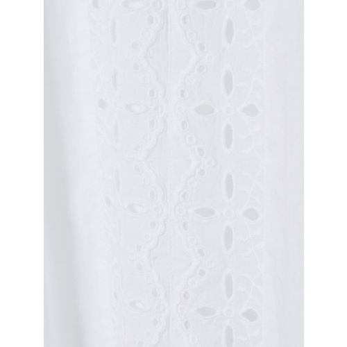 H&M Women White Broderie Anglaise Blouse