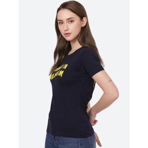 Free Authority Navy Blue Women Tshirt