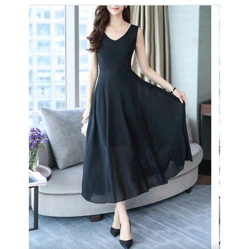 WC-1522 ELIANA BLACK Long Dress