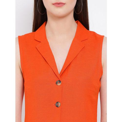 Oxolloxo Women Orange Solid Playsuit
