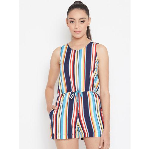 PURYS Women Multicoloured Striped Playsuit