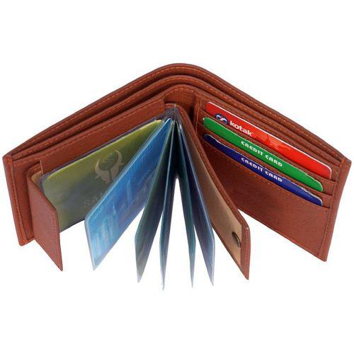 VINISHA ENTERPRISE Branded Wallet For men, PU Leather, Tan in colour, Bi-Fold, Hand Made, Long Lasting Quality, (Model-MW-SA-T-0021) by Vinisha