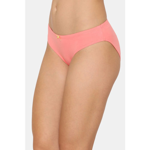 Zivame (Pack of 3) Bikini Low Rise Anti-Microbial Panty -Wind Pt Red Pink