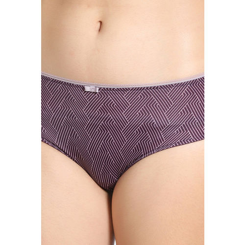 Zivame Knotty Low Rise Full Coverage Hipster Panty - Blackberry Wine