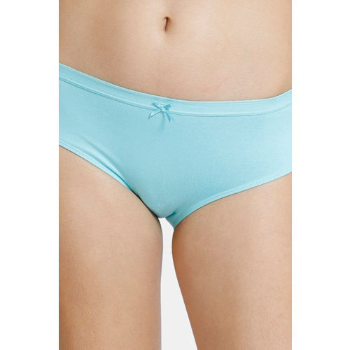 Zivame Low Rise Anti-Microbial Hipster Panty (Pack of 3 ) - Cherry Aqua Daisy