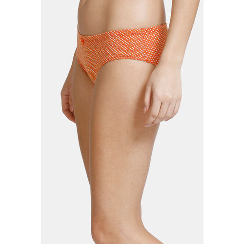 Zivame (Pack of 3) Hipster Low Rise Anti-Microbial Panty - Pacific Orange Malaga Pt