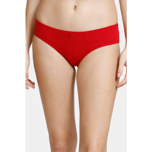 Zivame (Pack of 3) Hipster Low Rise Anti-Microbial Panty - Cherry Orange Malaga Pt