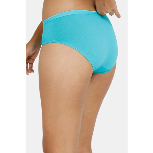 Zivame Anti-Microbial Low Rise Hipster Panty (Pack of 2 ) - Navy Ceramic